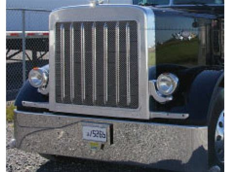 Peterbilt 379 Extended Hood Front Grill With Oval