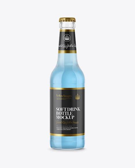 Another classic glass beer bottle mockup that's easy to customize with the psd smart objects. 330ml Clear Glass Bottle with Blue Drink PSD Mockup