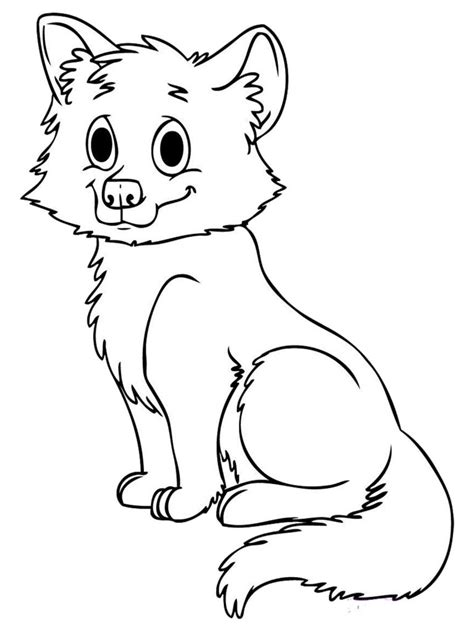 baby fox coloring pages free printable fox coloring pages for