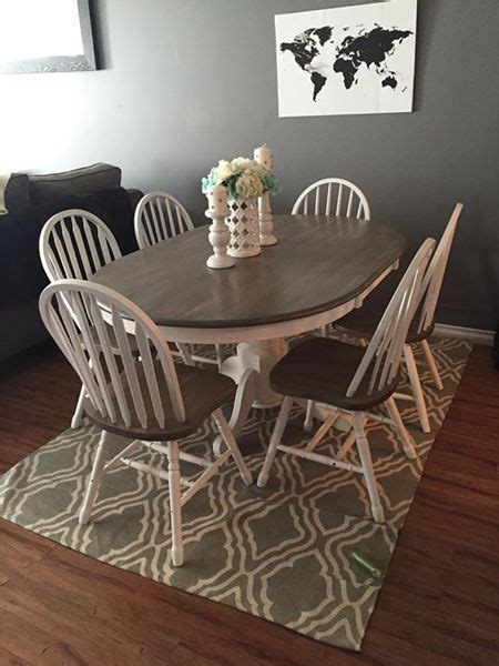 rustic solid wood kitchen table   chairs white base