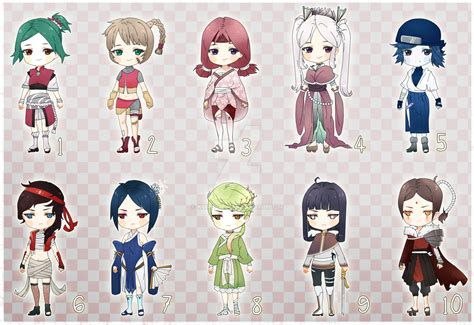 download anime batch naruto naruto adoptables big batch reduced open by kurojii on