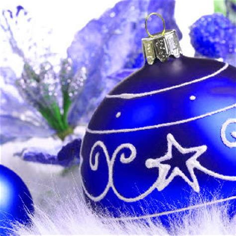 blue christmas ornaments facebook cover holidays