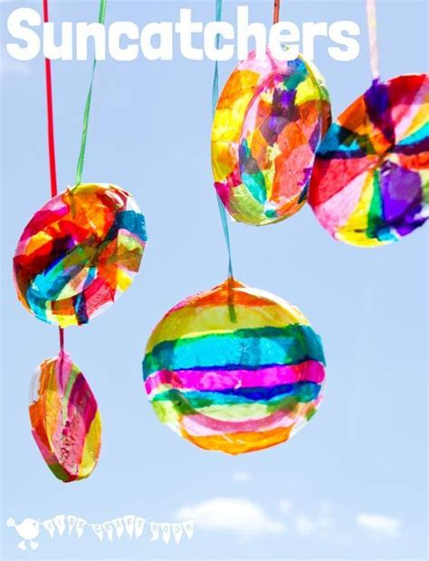 colourful suncatchers diy crafts  kids easy crafts