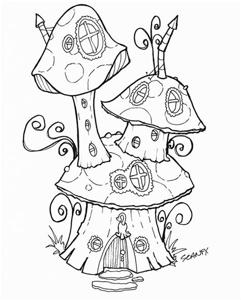 Free Fairy House Download Colorbook 4 Nerdlings