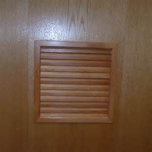 """Wood Louvers Inserts for 3 4"""" Thick Doors"""