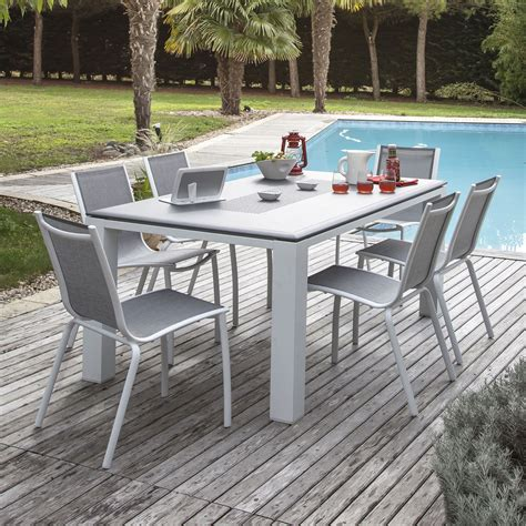 table 6 chaises awesome table de jardin aluminium et chaise images