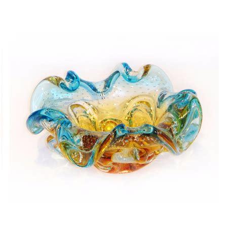 vaso murano vaso de murano centro de mesa cristal ambar azul sao