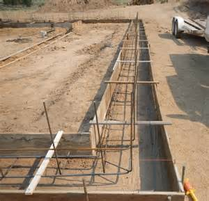 Concrete Foundation Wall Rebar Footing
