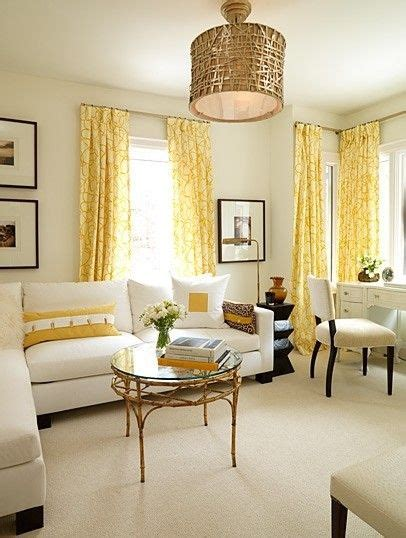 Sunny Yellow, Gold And White Living Room This Is So