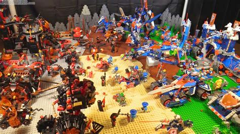 Huge Lego Nexo Knights Battlefield With All Year 1 Sets