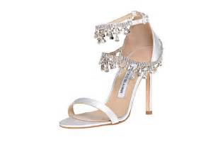 jeweled wedding shoes 1455 new manolo blahnik white satin houristra jeweled wedding shoes ebay