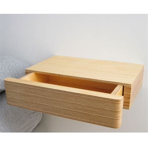 wall mounted drawer pacco floating drawer homeware furniture and gifts mocha