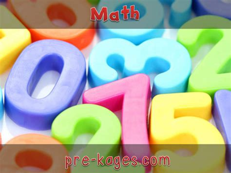 math activities pre k pages