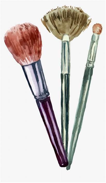 Makeup Brush Vector Transpa Cartoon Cosmetics Transparent