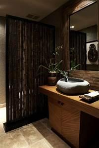 Jolies variantes pas cher pour un meuble en bambou for Salle de bain design avec bougie décorative oriental