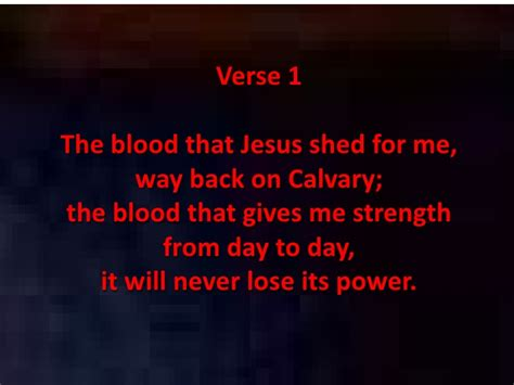 oh the blood of jesus shed for me 8 8 10
