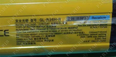 keyence gl r36h light curtain transmitter receiver