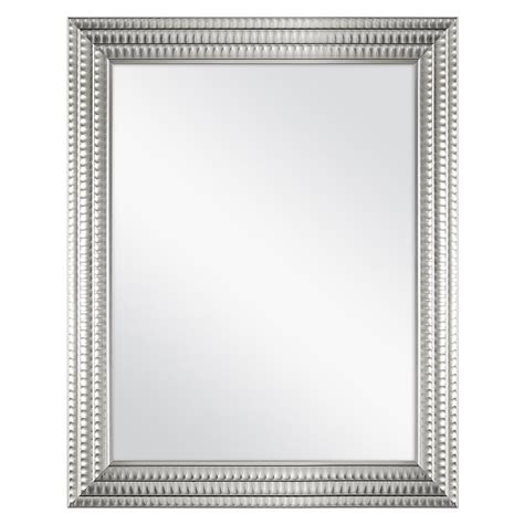 silver framed fog  wall mirror      home