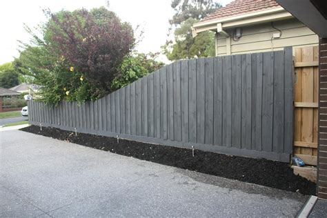 fence paint colors tapered fence