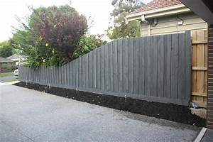 tim tina39s new home building blog redevelopment in With clear fence paint