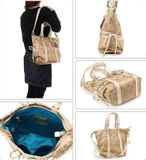Coach Poppy Signature Sateen Spotlight Shoulder Bag 13843