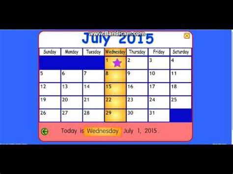 starfall calendar july
