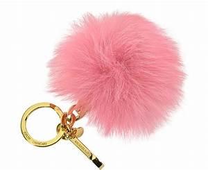 Porte Clef Fourrure : porte clef avec pompon en fourrure michael kors rose vieilli sur forzieri ~ Teatrodelosmanantiales.com Idées de Décoration