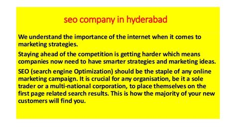 seo in hyderabad seo company in hyderabad