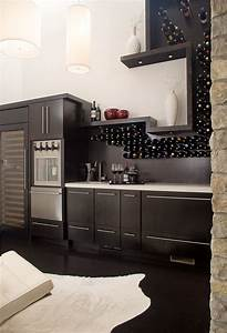 Built In Kitchen Wine Rack Dining Room Contemporary With