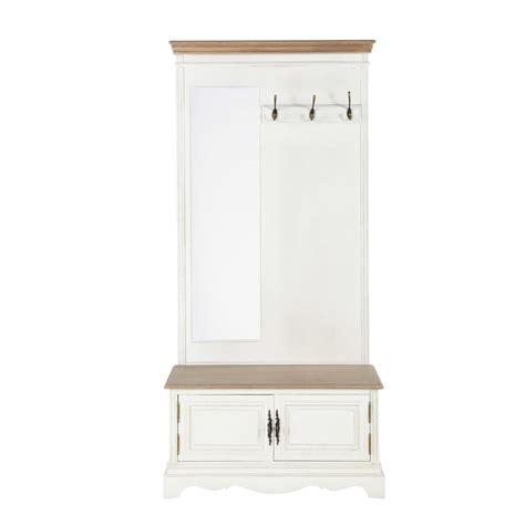 lit de fille ado couleur pour chambre de meuble d 39 entrée avec miroir en bois crème l 90 cm léontine