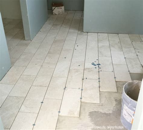 Bathroom Floor Tile Installation by Grout Mistakes And Installed Bathroom Tile Domestic