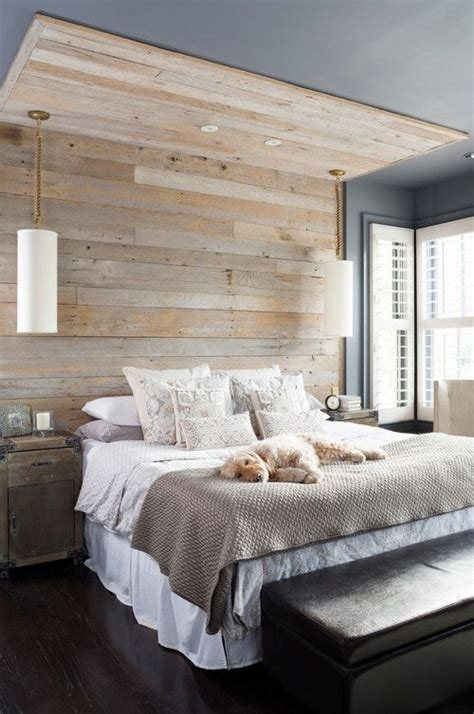 planked wall  bed vizualiziruy wood bedroom bedroom rustic master bedroom
