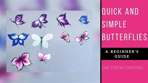 quick  easy butterflies acrylic painting beginners