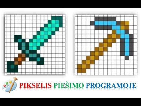 Pikselis piešimo programoje - YouTube