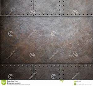 Rust Steel Metal Texture With Rivets As Steam Punk Stock ...