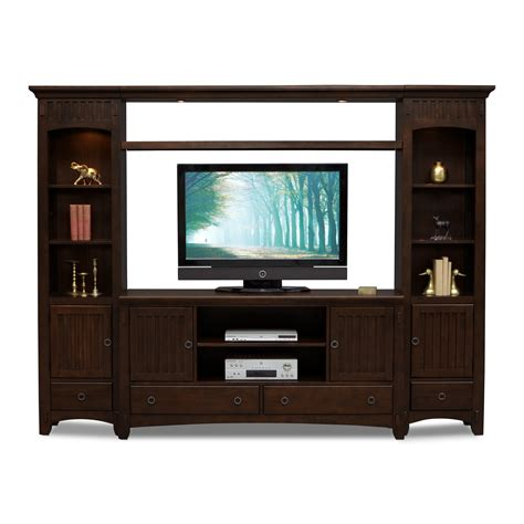 saginaw on wall units furniture arts crafts 4 entertainment wall unit chocolate