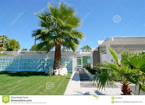 mid century modern home stock photo image 65108654