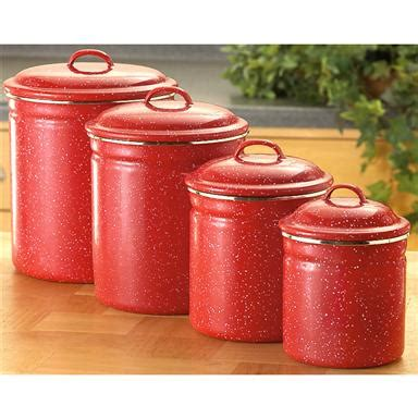 kitchen canisters canada 4 pc enamel canister set 171524 cookware