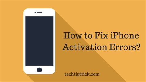 how to fix a iphone how to fix iphone activation errors working method