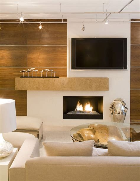 wall contemporary small fireplace offset tv