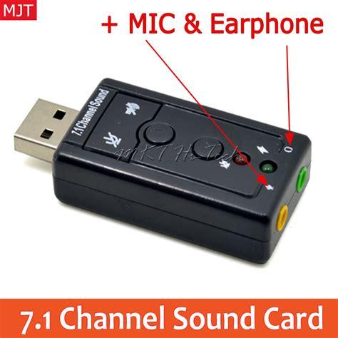 Usb Soundcard 7 1 Channel Sound aliexpress buy external usb to 3d audio usb sound