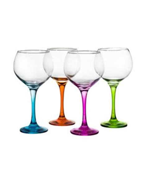 balloon coloured gin glasses importonics