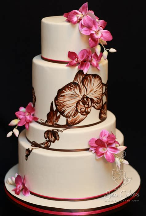 orchid wedding cake design best cake blog painted