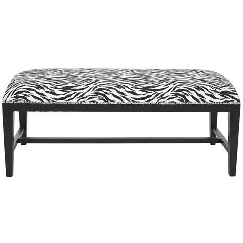 safavieh bench safavieh zambia zebra bench mcr4533a the home depot
