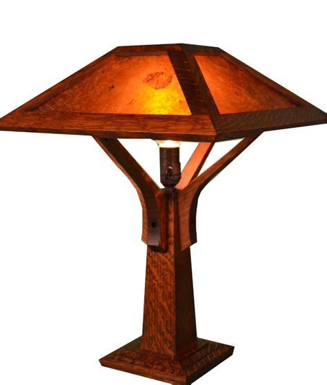 Mission Craftsman Table Lamp   Little Brown   Rustic Artistry