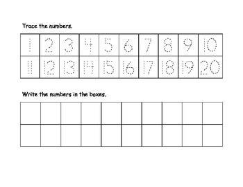 numbers trace  write    rebecca jones teachers