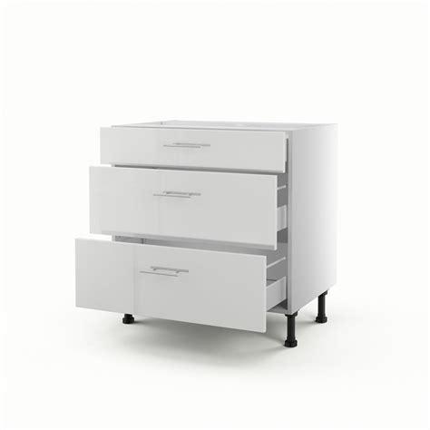 meuble cuisine 70 cm largeur meuble de cuisine bas blanc 3 tiroirs h 70 x l 80 x p