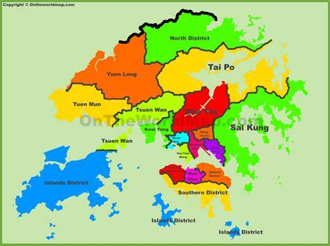 administrative map  hong kong