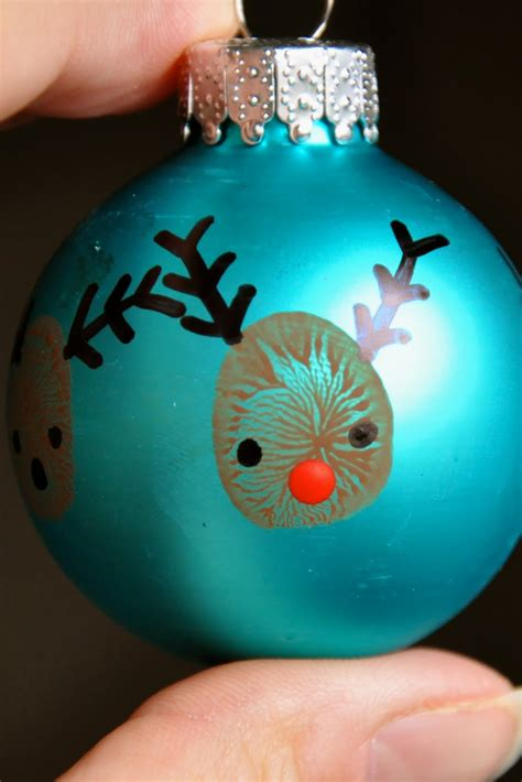 reindeer thumbprint ornaments for crafts