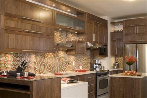 cuisine noyer armoires de cuisine de style contemporain la totalité de